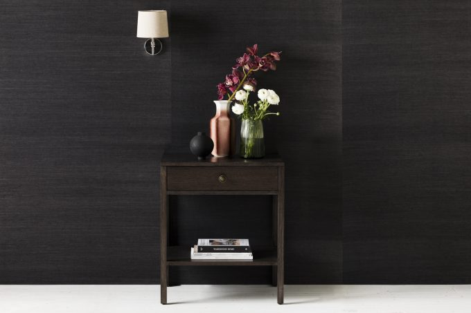 Lucca Side table in smoke stain