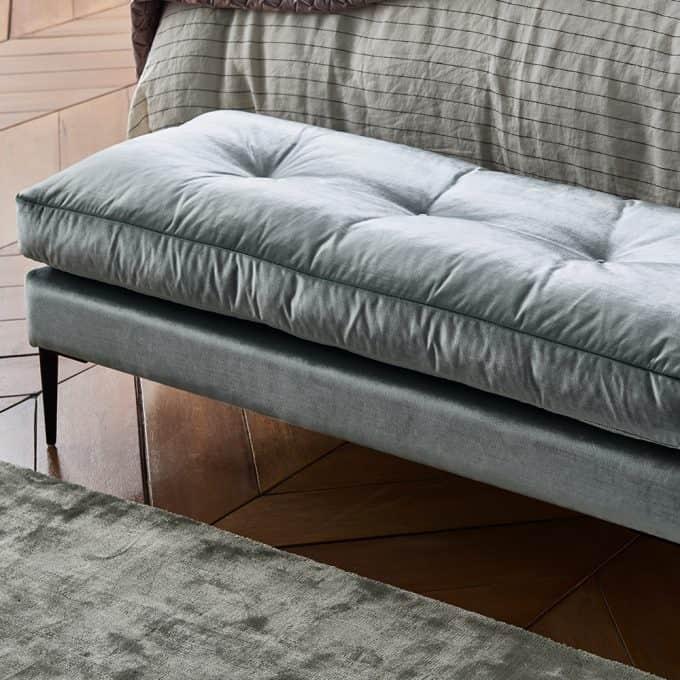 Carmen footstool in Ellison Seamist Velvet