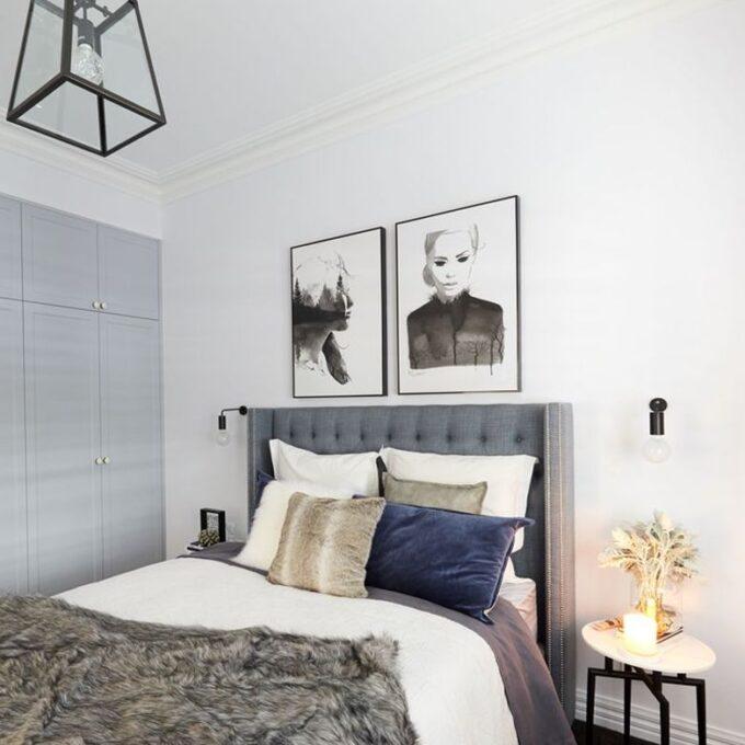 Waldorf Bedhead linen Hannah and Clint the block 2018
