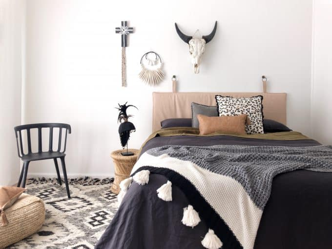 The Piper bedhead tribal nude leather