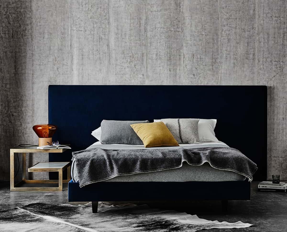 Mirabelle Bed in Liaison Ocean Velvet cropped