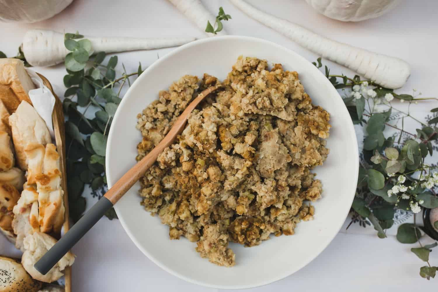 Traditional Holiday Stuffing, Thanksgiving feast