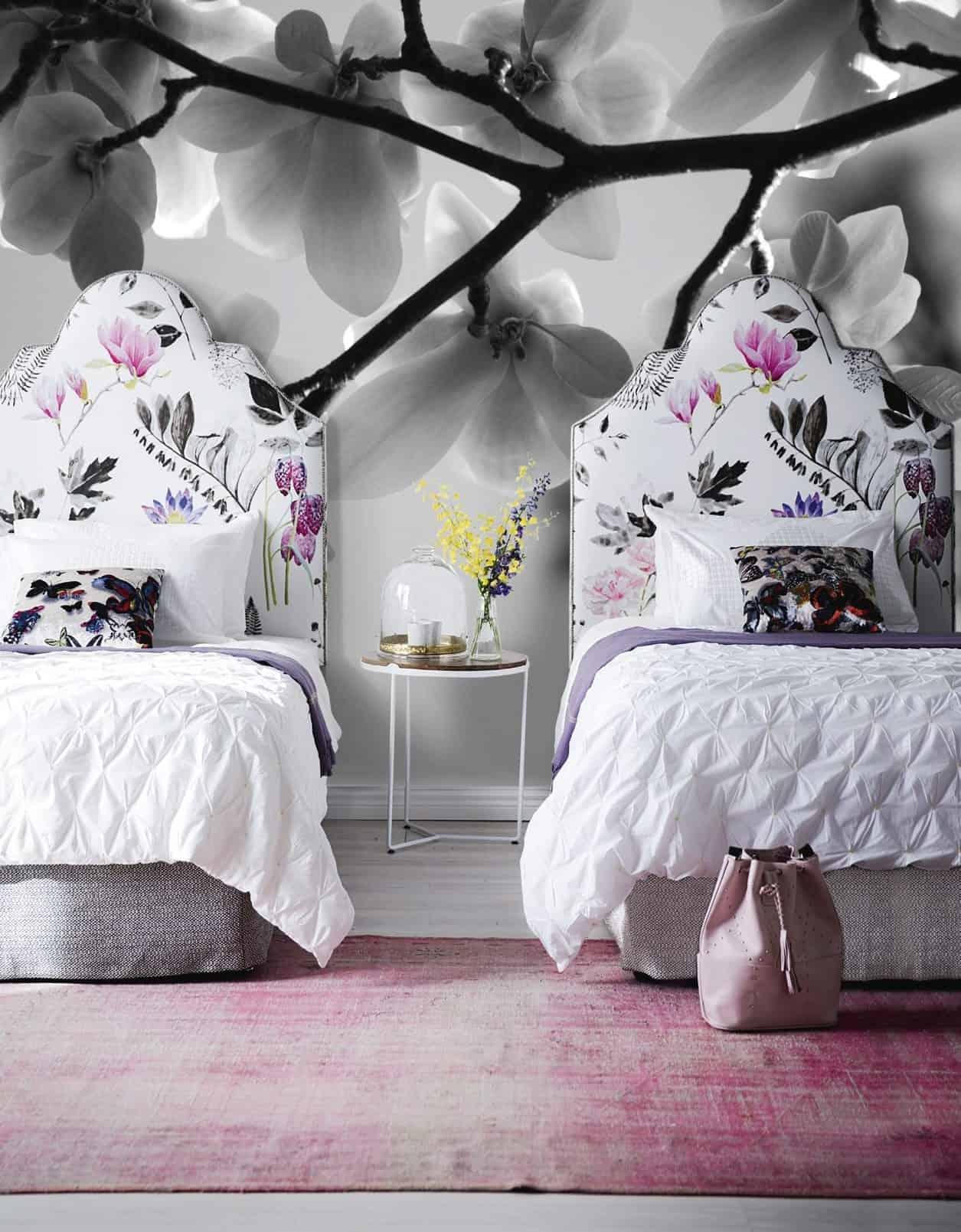 Empire Bedhead in Magnolia Linen