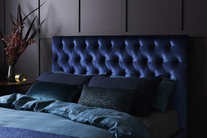 Soho Bed in Ellison Indigo Velvet