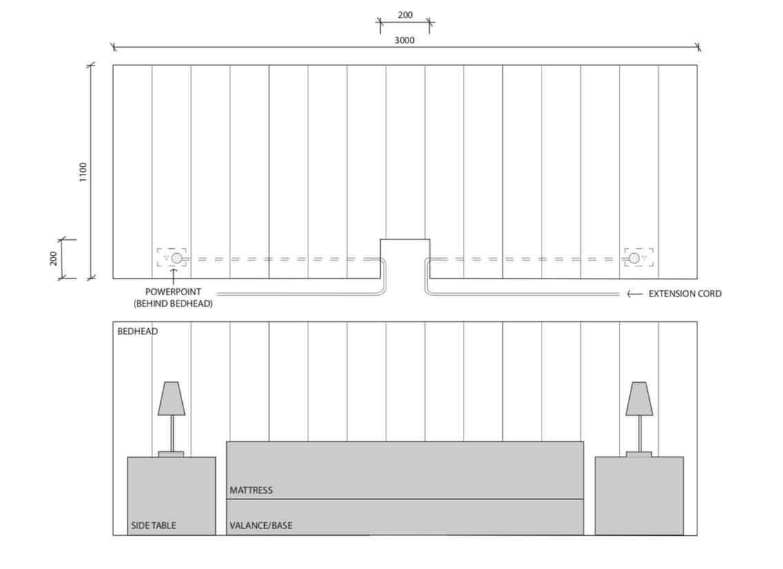 Wider bedhead Chelsea design