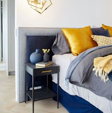 Norm and Jess 2018 the block linen velvet bed head design