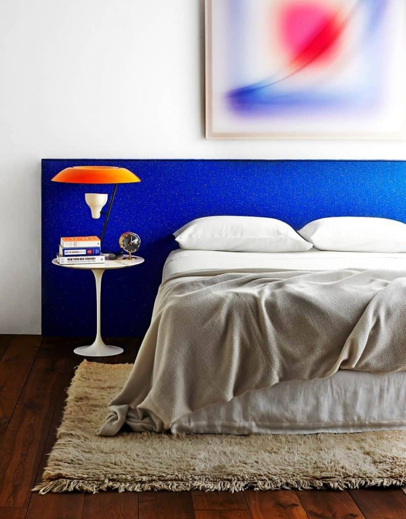 Healtherly Ralston bedhead, cobalt blue