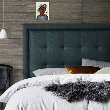 Finley Bedhead in Linden Emerald Linen
