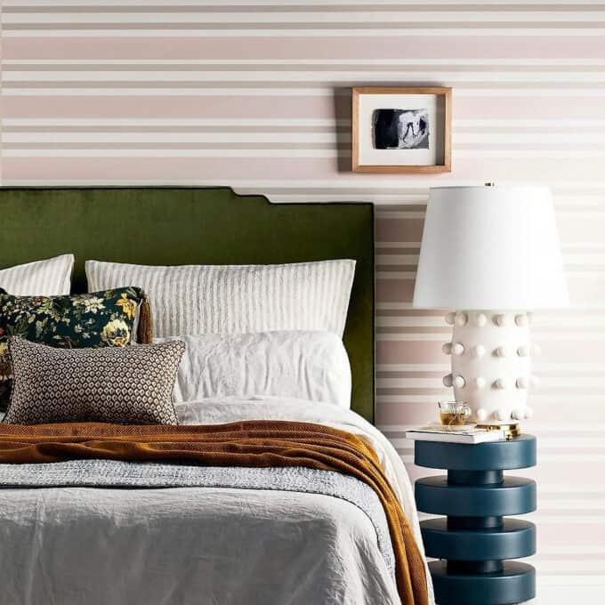 Heatherly Design green velvet bedhead Medina