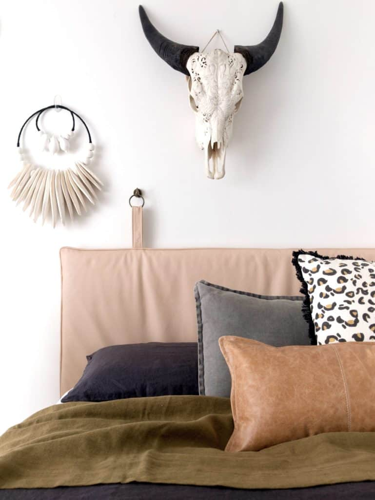 The Piper headboard leather