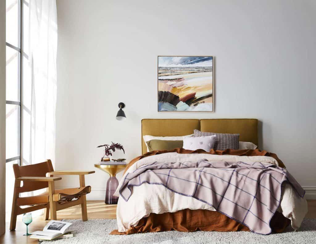 Heatherly Design Armelle Bedhead in Antelope Linen
