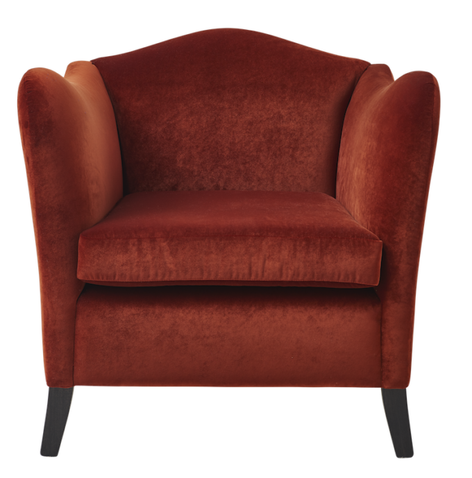 Kent Chair in Turin Brandy Velvet