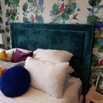 Heatherly Design Bailey bedhead velvet testimonial