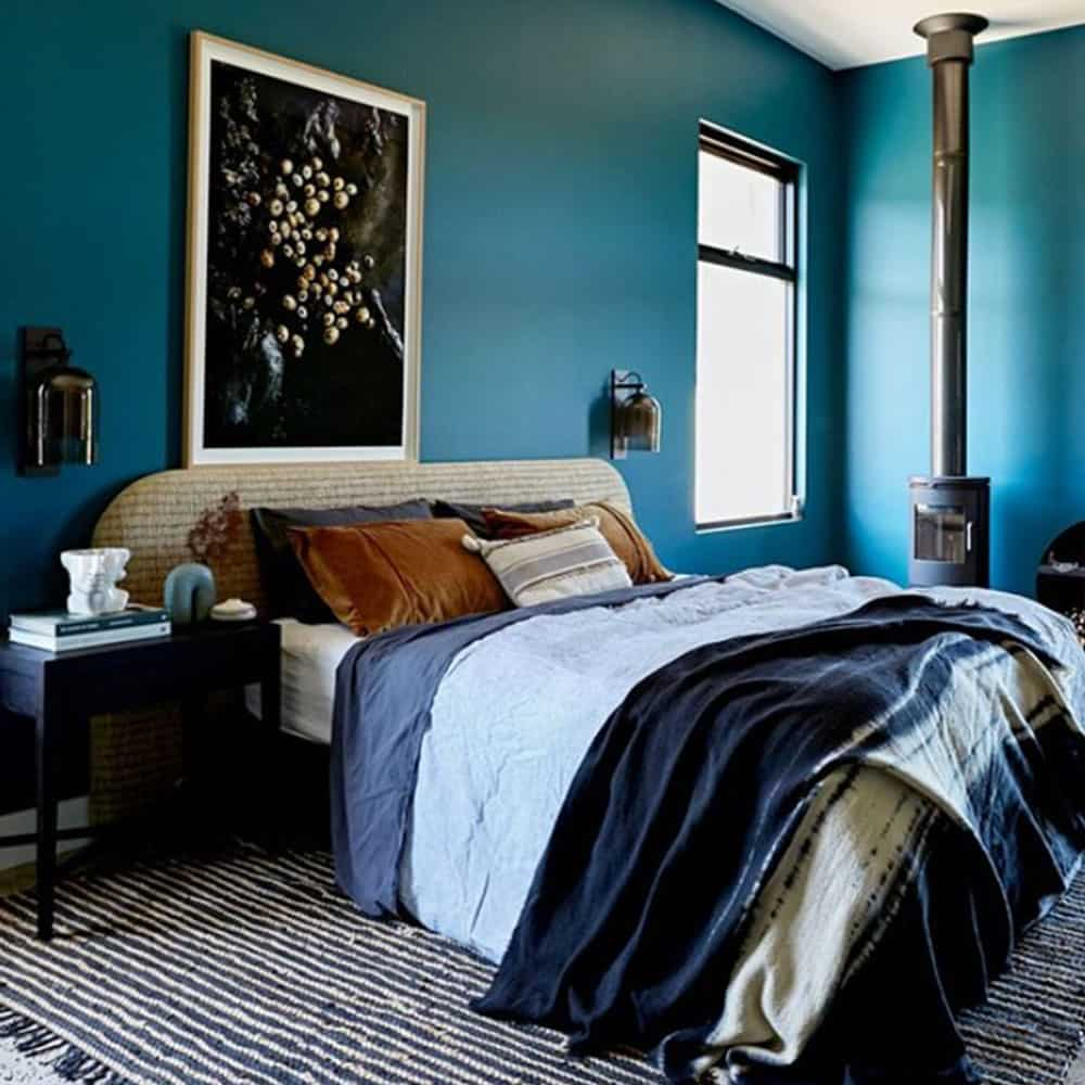 Jono Fleming's Farmhouse Bedroom Makeover featuring a Heatherly Design Bedhead