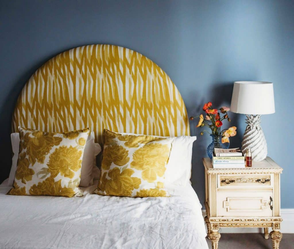 Heatherly Design Stella bedhead in the home of Georgie Abay of The Grace Tales