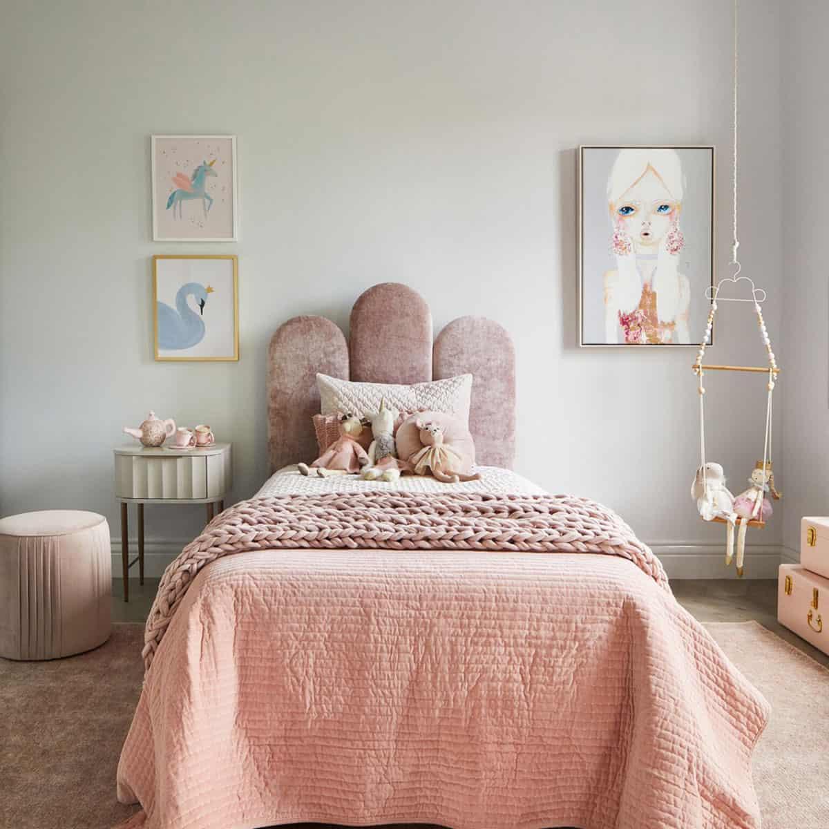 Heatherly design Poppy Bedhead in Bec Judd's daughter's bedroom