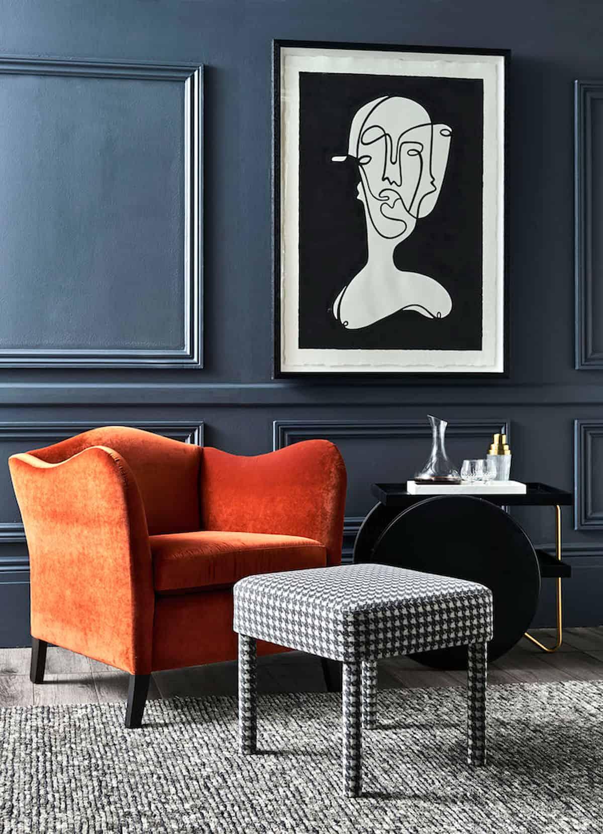 Heatherly Design's Kent Chair in Brandy Velvet