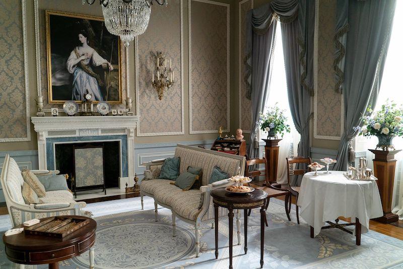 Bridgerton family sitting room