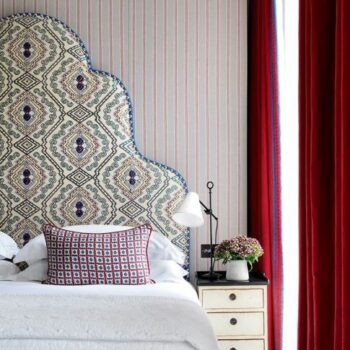 HeatherlyDesign Kit Kemp Giselle Bed head floral hotel design