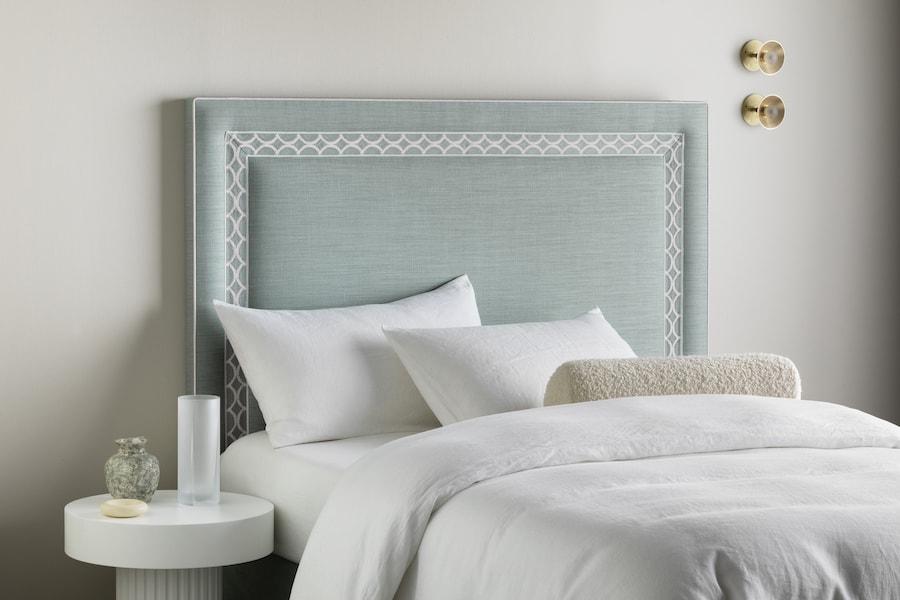 Heatherly Design Astor Bed head Hotel blog inspiration linen