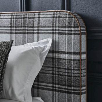 Louis-bed-head-plaid-felt-tailored