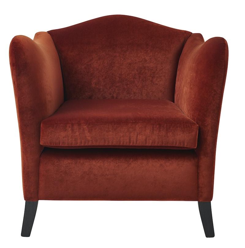 Kent chair velvet upholstered design custom