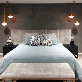 Oslo Bed head in Windsor Velvet