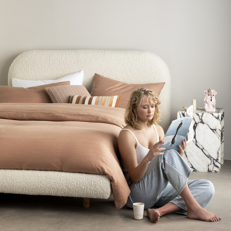 Bonnie Boucle readymade bed design king queen