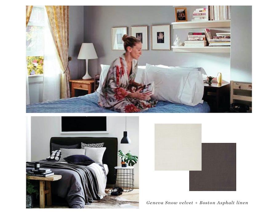 Carrie Bradshaw bedroom Heatherly Design