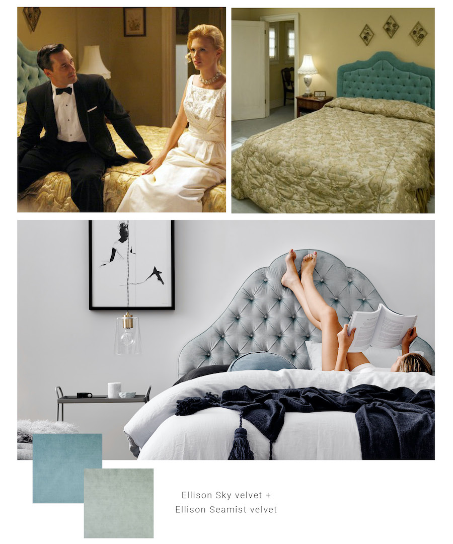 Mad Men bedroom Don and Betty Draper Heatherly Design