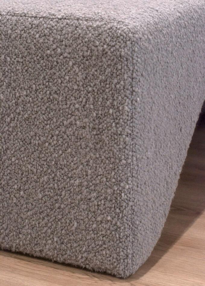 grey boucle fabric ottoman fabric custom heatherly design
