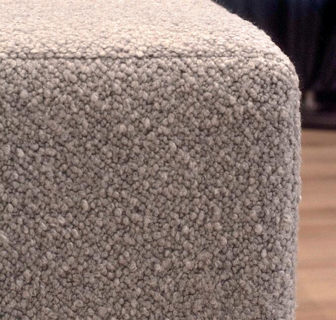 frost grey boucle footstool ottoman